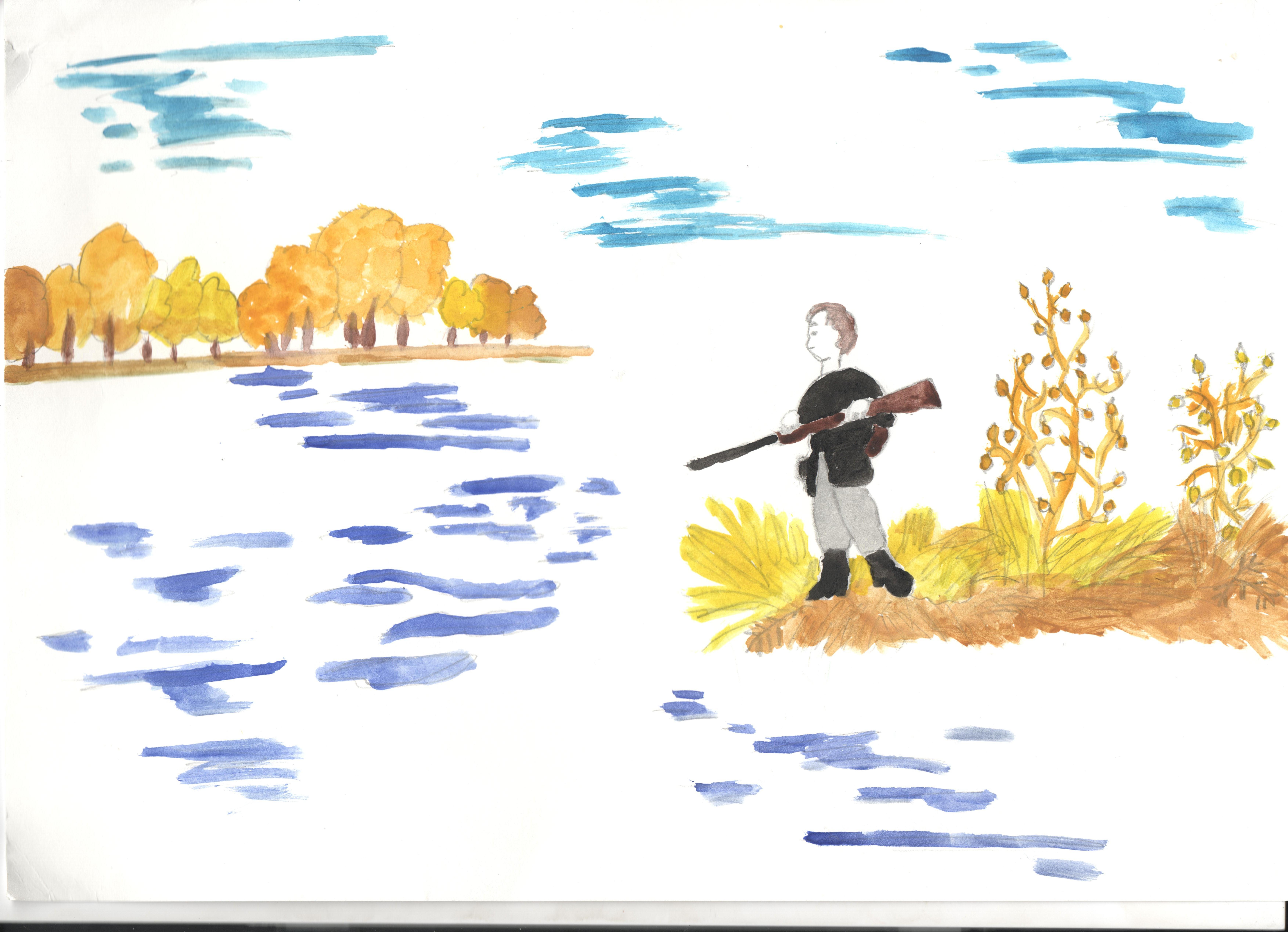 Картинки раскраски по рассказу васюткино озеро